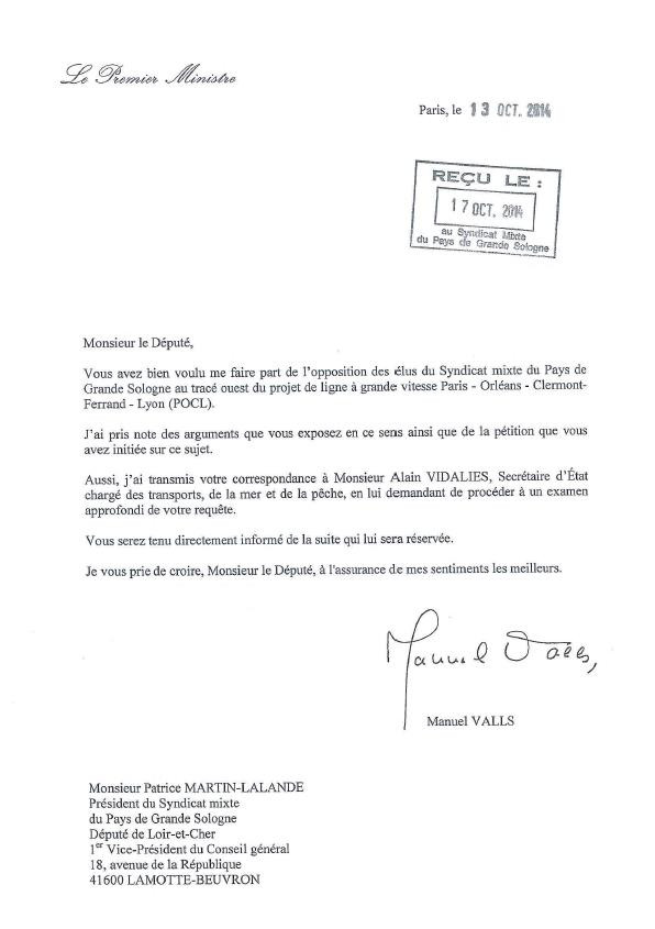 VALLS_reponse_opposition_PGS_trace_ouest_POCL_20141017