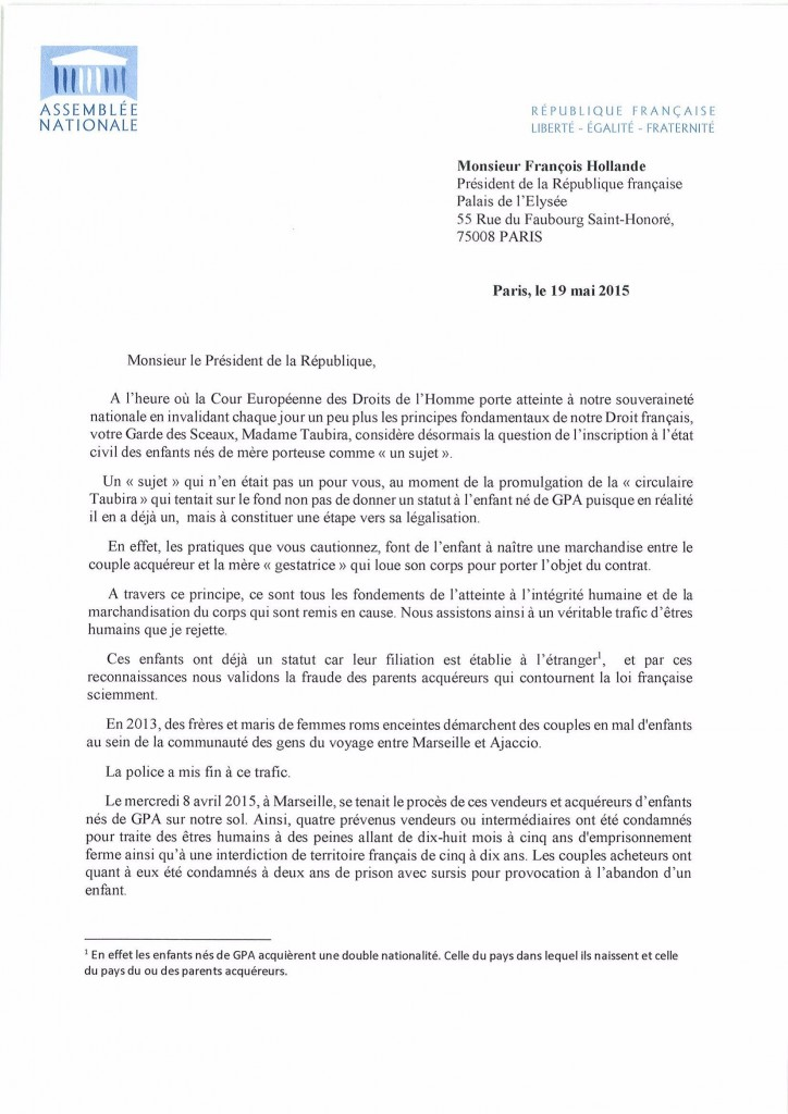 Lettre Hollande GPA_1